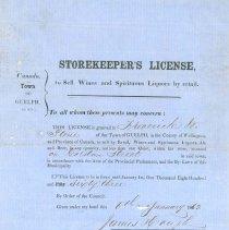 Image of F. W. Stone's Liquor License