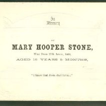 Image of Memorial Card for Mary Stone