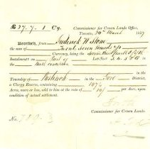 Image of Receipt to F. W. Stone