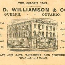 Image of J.D. Williamson Ad Card
