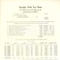 Image of 1950 Guelph Tax Rate, Front