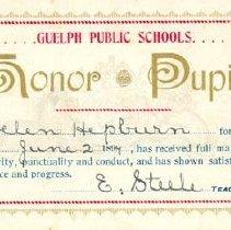 Image of Honour Pupil Card, 1894