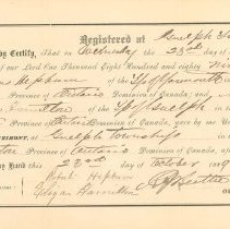 Image of Marriage Certificate, 1889