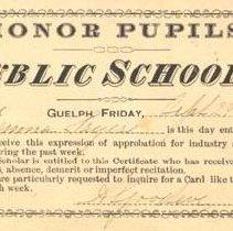 Image of Honour Pupil Card 1877