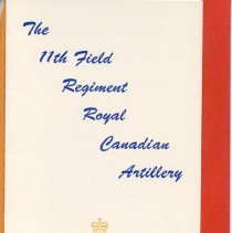 Image of 11th Field Regiment Dance Card