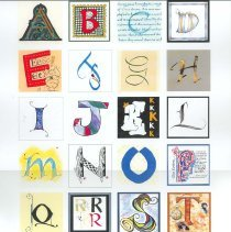 Image of Alphabet Quilt Poster