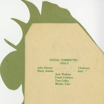 Image of Social Committee, 1933-4, back cover