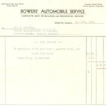 Image of Invoice Bowers Automobile