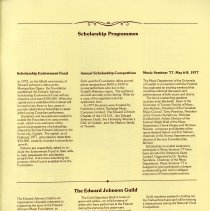 Image of Scholarship Programmes; Edward Johnson Guild, p.43
