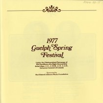 Image of 1977 Guelph Spring Festival, p.1