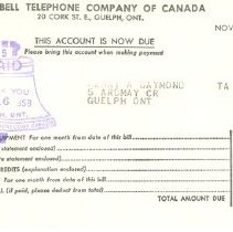Image of Invoice: Bell Telephone Co.