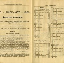 Image of 1886 Prize List, Agricultural Department, page 16