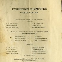 Image of Exhibition Committee, City of Guelph