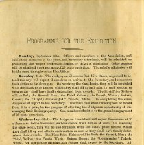 Image of Programme for the 1886 Exhibition, page 4