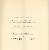 Image of Program Title Page