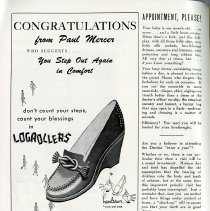 Image of Advertisement, Paul Mercer Shoes, p.74