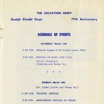 Image of Schedule of Events, page 1