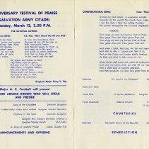 Image of Anniversary Festival of Praise Programme, pp.8-9