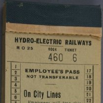 Image of Employee Pass Booklet