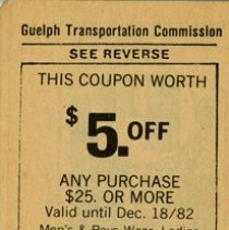 Image of Back of Transfer Ticket Booklet, Coupon for Budds