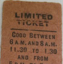 Image of Bus Ticket 291302 Back