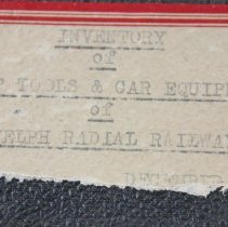 Image of Inventory Book Label Only
