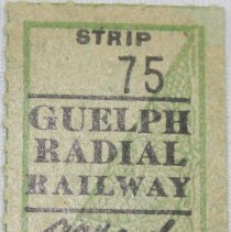Image of Bus Ticket Strip 75 Front