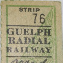 Image of Bus Ticket Strip 76 Front