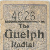 Image of Bus Ticket 4026 Front