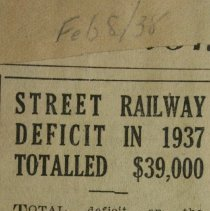 Image of Pg.33 Street Railway Deficit