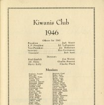 Image of Officers, Directors, Members of Kiwanis Club, 1946, p.41