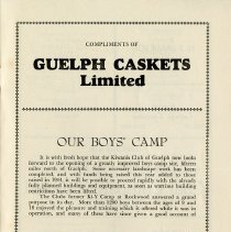 Image of Guelph Kiwanis Club, Boys' Camp, p.25