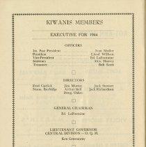 Image of Kiwanis Members, Executive for 1944, p.30