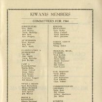 Image of Committees for 1944, p.31