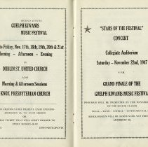 Image of Advertisements for Guelph Kiwanis Music Festivals, pp.24-25