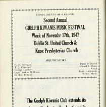 Image of Adjudicators for Guelph Kiwanis Music Festival, p.58