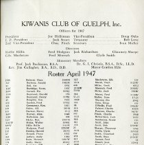 Image of Officers for 1947; Membeship Roster 1947, p.59