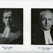 Image of Rev. W.G. Wilson; Rev. H.E. Abraham, M.A.