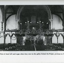 Image of Church Loft and Organ, prior to 1908