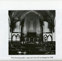 Image of Pulpit, Organ and Choir Loft as changed in 1908