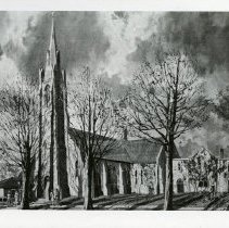Image of Painting of St. Andrew's Church by Evan Macdonald, p.i