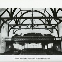 Image of Current View of Rear of Church and Balcony