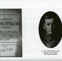 Image of Plaque and Photograph of Lt. Col. John McCrae