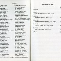 Image of List of Patrons; Table of Contents, pp.ii-iii