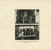 Image of View of Pulpit and Choir before change in 1908