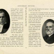 Image of Rev. W.G. Wilson; Hugh Walker, Treasurer, p.14