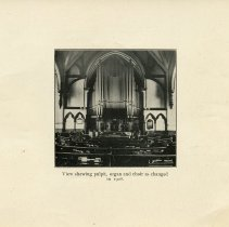 Image of View of Pulpit, Organ, and Choir as changed in 1908