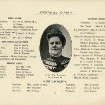 Image of Mrs. Jos. Lawson, Pres. of Ladies' Aid, p.23