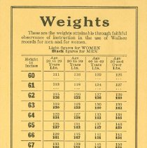 Image of .19 Weight Chart Side 1