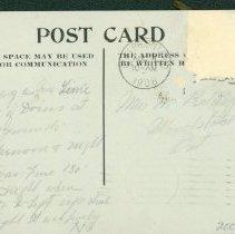 Image of Welcome Home Boys Postcard 1908 - Back